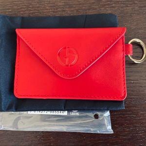 Giorgio Armani Red Card Holder (New, Authentic)